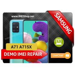 A71 A715X DEMO IMEI REPAIR FIX (A715X DEMO BAD IMEI 000000000000000 IMEI REPAIR FIX AND WRITE NEW CLEAN IMEI)