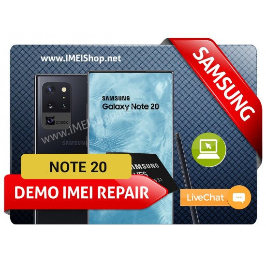 NOTE 20 DEMO IMEI REPAIR FIX  (BAD IMEI NOTE 20 DEMO 000000000000000 IMEI REPAIR FIX AND WRITE NEW CLEAN IMEI)