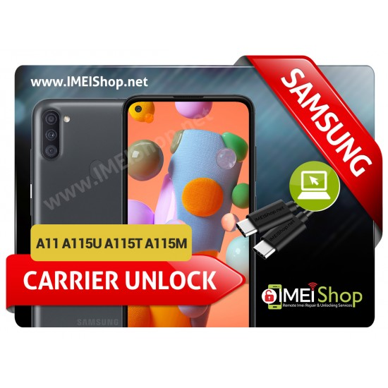 A11 A115U A115T A115M SAMSUNG INSTANT REMOTE CARRIER UNLOCK