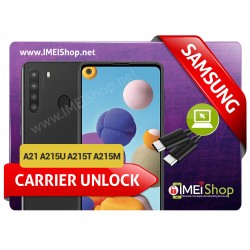 A21 A215U A215T A215M SAMSUNG INSTANT REMOTE CARRIER UNLOCK