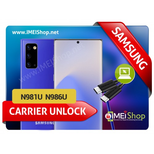 NOTE 20 , NOTE 20 ULTRA SAMSUNG REMOTE USB CARRIER UNLOCK