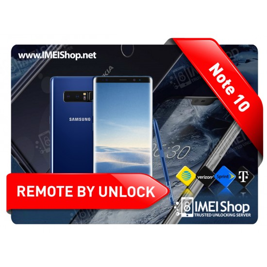 NOTE 10 NOTE 10 PLUS SAMSUNG REMOTE USB CARRIER UNLOCK SPRINT AT&T T-MOBILE CANADIAN INTERNATIONAL