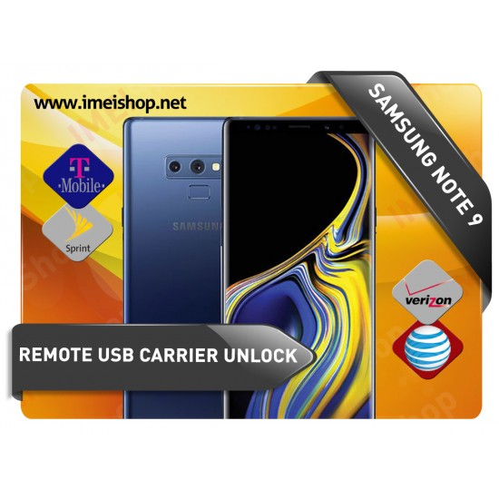 NOTE 9 SAMSUNG REMOTE USB CARRIER UNLOCK