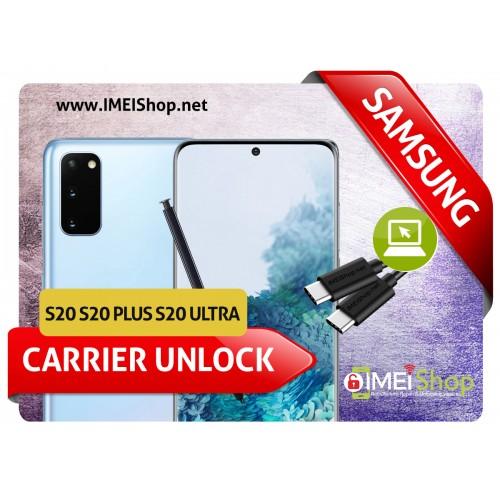 S20 , S20 PLUS , S20 ULTRA SAMSUNG REMOTE USB CARRIER UNLOCK