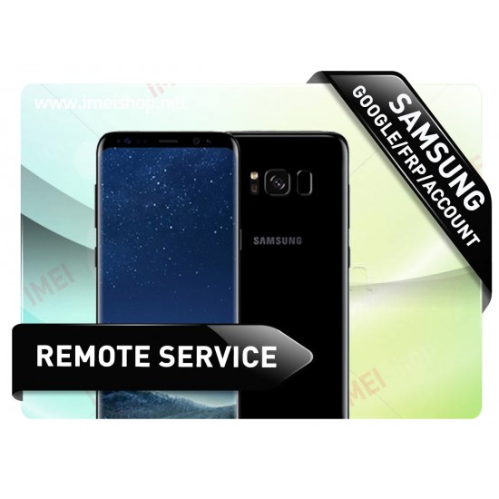 SAMSUNG GOOGLE/FRP/ACCOUNT REMOVAL INSTANT REMOTE SERVICE OVER USB